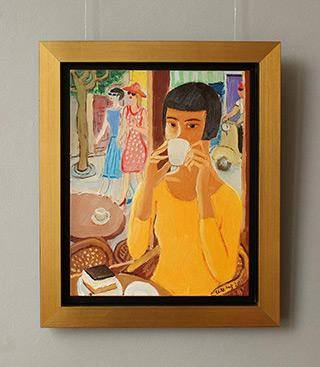 Krzysztof Kokoryn : Look over the cup : Oil on Canvas