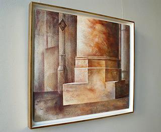 Łukasz Huculak : Architectural fragment : Oil on Canvas