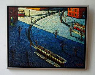 Adam Patrzyk : Winter in the City : Oil on Canvas