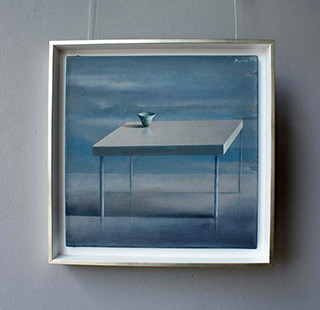 Łukasz Huculak : Table (white frame) : Oil on Canvas