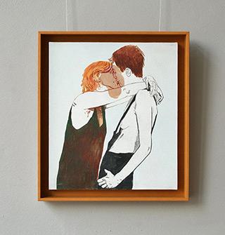 Agnieszka Sandomierz : Couple of redheads : Tempera on canvas