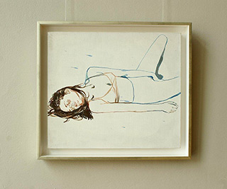 Agnieszka Sandomierz : Self love I : Tempera on canvas