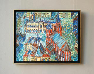 Edward Dwurnik : Flood in Kraków : Oil on Canvas
