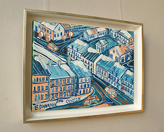 Edward Dwurnik : Olsztyn : Oil on Canvas