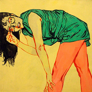 Agnieszka Sandomierz : Bended : Oil on Canvas