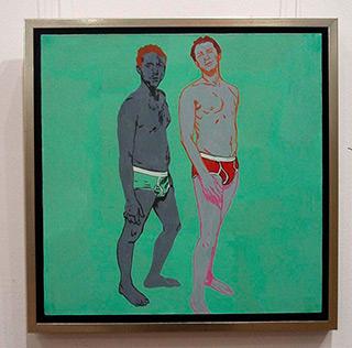 Agnieszka Sandomierz : Changing Room : Oil on Canvas