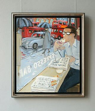 Krzysztof Kokoryn : Coffee in London : Oil on Canvas