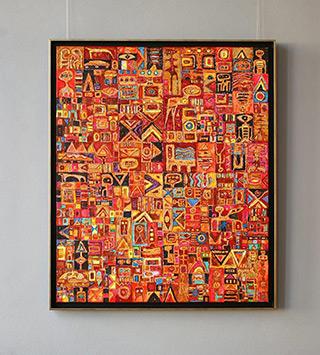 Krzysztof Pająk : Seven days : Oil on Canvas