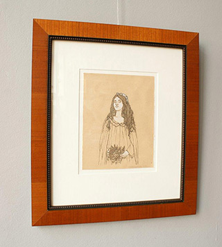 Magdalena Sawicka : Girl with bunch : Ink on paper