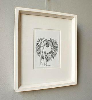 Magdalena Sawicka : Wreath : Ink on paper