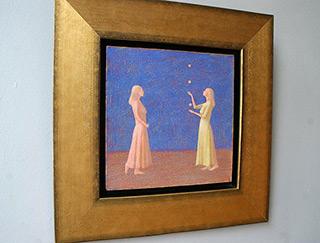 Mikołaj Kasprzyk : Jugglers : Oil on Canvas