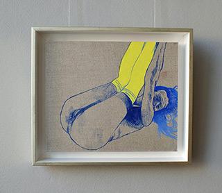 Agnieszka Sandomierz : Yellow knee socks : Oil on Canvas