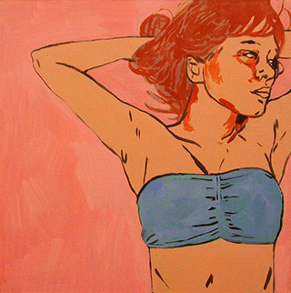 Agnieszka Sandomierz : Lying down : Oil on Canvas