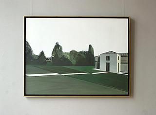 Maria Kiesner : Villa in the garden : Oil on Canvas