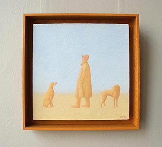 Mikołaj Kasprzyk : With two dogs : Oil on Canvas