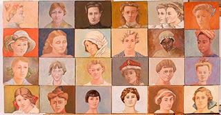 Bogna Gniazdowska : Faces : Oil on Canvas