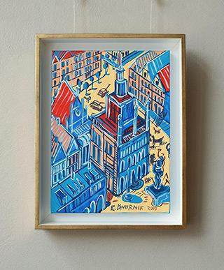 Edward Dwurnik : Poznañ II : Oil on Canvas