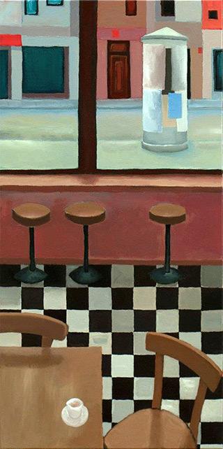 Krzysztof Kokoryn : Advertising column : Oil on Canvas