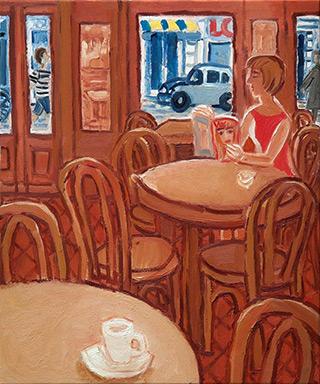 Krzysztof Kokoryn : Brown interior : Oil on Canvas