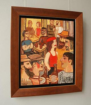 Krzysztof Kokoryn : The girl in red beret : Oil on Canvas