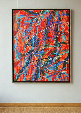 Edward Dwurnik : Abstract painting No 371 : Oil on Canvas