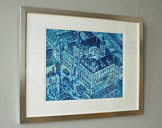 Edward Dwurnik : Blue Royal Castle : Tempera on cardboard