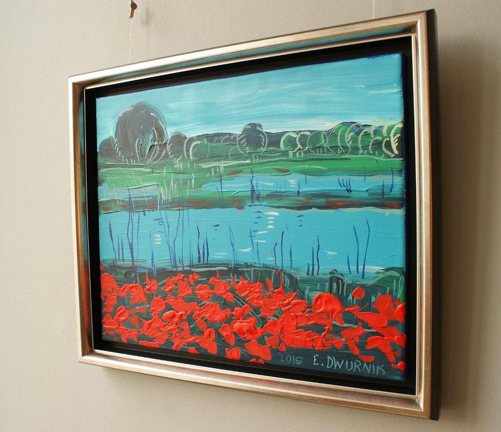 Edward Dwurnik : Landscape with poppies