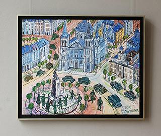 Edward Dwurnik : Łódź Liberty Square : Oil on Canvas