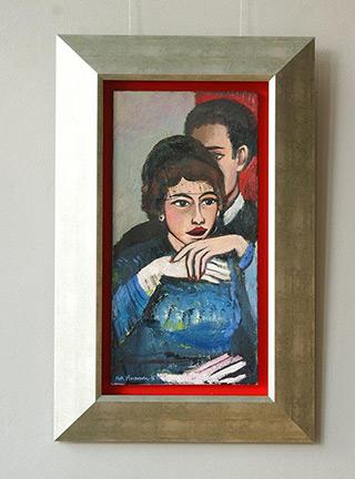Katarzyna Karpowicz : In the theatre : Oil on Canvas