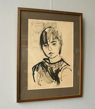 Katarzyna Karpowicz : Self-portrait from childhood : Ink on paper