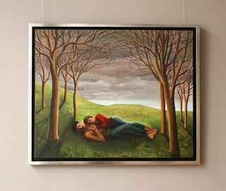 Katarzyna Karpowicz : Sleeping couple : Oil on Canvas