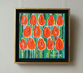 Edward Dwurnik : Tulips No. 1 : Oil on Canvas