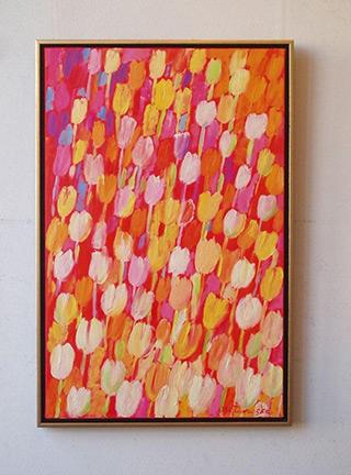 Beata Murawska : Vertical tulips : Oil on Canvas