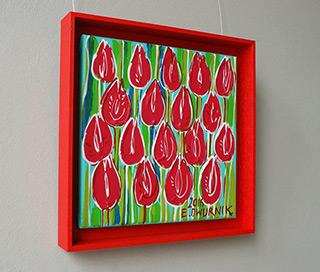 Edward Dwurnik : Tulips No. 4 : Oil on Canvas