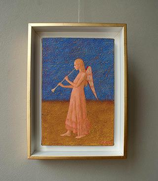 Mikołaj Kasprzyk : Angel with trumpet : Oil on Canvas