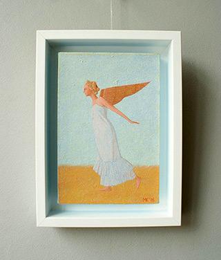 Mikołaj Kasprzyk : Light angel : Oil on Canvas
