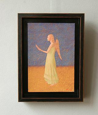 Mikołaj Kasprzyk : Singing angel : Oil on Canvas