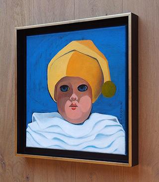 Katarzyna Castellini : Clown in yellow cap : Oil on Canvas