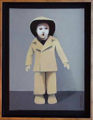 Katarzyna Castellini : Little fisherman : Oil on Canvas