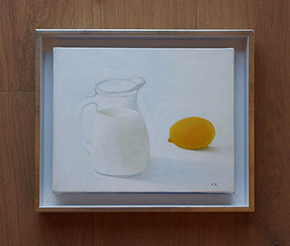 Katarzyna Castellini : Still life with lemon : Oil on Canvas