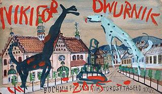Edward Dwurnik : Bochnia : Watercolour on paper