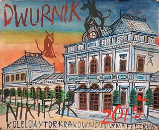 Edward Dwurnik : Little town : Watercolour on paper