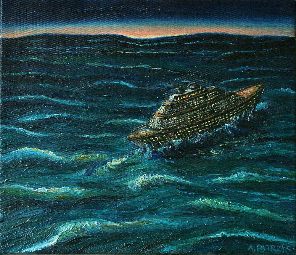 Adam Patrzyk : Liner during a storm