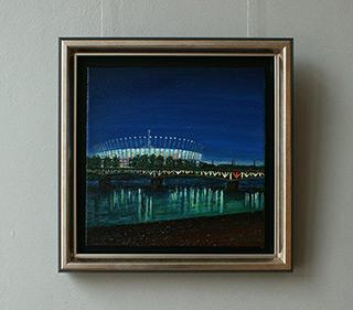 Adam Patrzyk : Stadium at night : Oil on Canvas