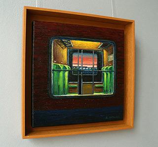 Adam Patrzyk : Window in the train : Oil on Canvas