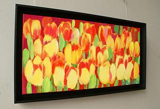 Beata Murawska : Long, long tulips : Oil on Canvas