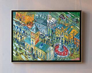 Edward Dwurnik : Gorzów : Oil on Canvas