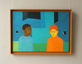 Katarzyna Castellini : Children in the night : Oil on Canvas