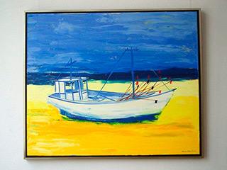 Jacek Łydżba : Fishing Boat : Oil on Canvas