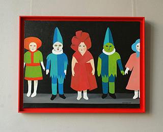 Katarzyna Castellini : Shelf with dolls : Oil on Canvas